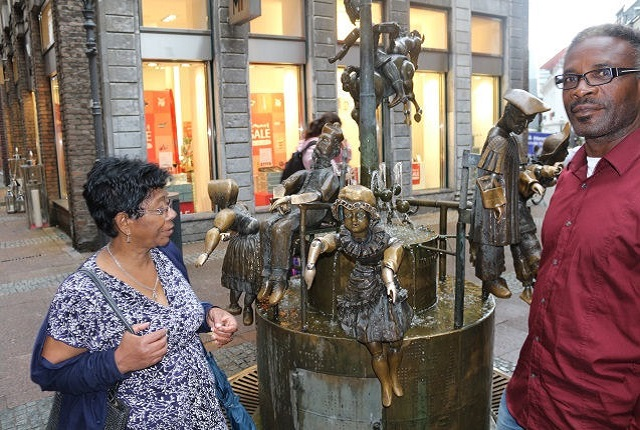 Am Puppenbrunnen in Aachen