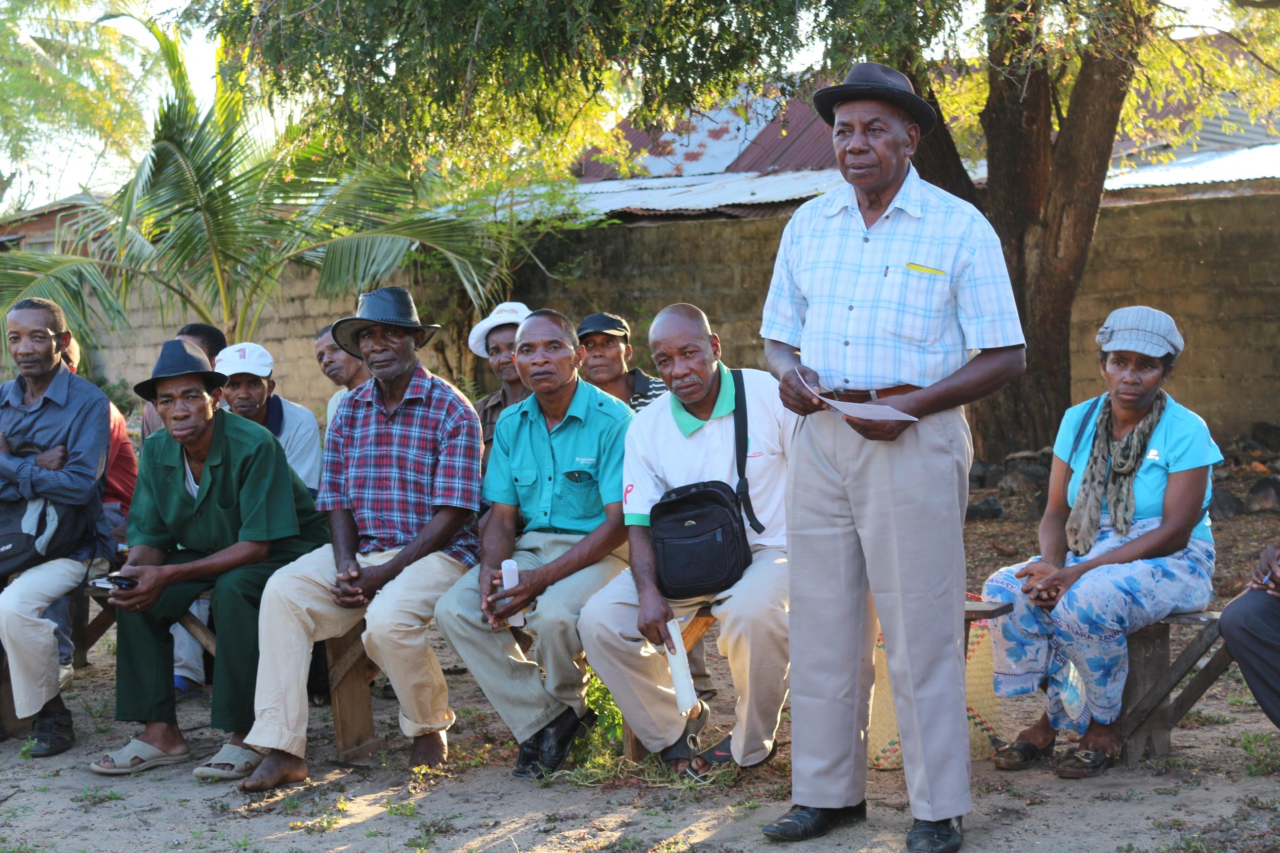 Ein Treffen mit in Iray Aina organisierte Vanillebauern